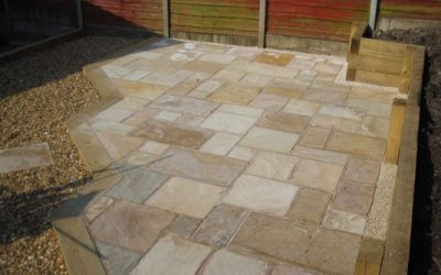 Terraced Garden Paving