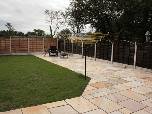 Large Indian Sandstone Patio