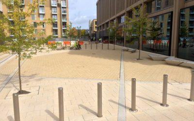Block Paved Microsoft Plaza