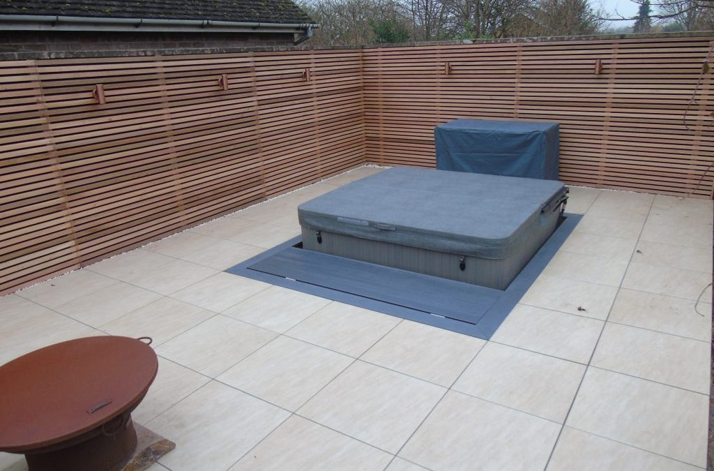Paving and Hot Tub